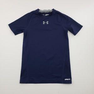 Under Armour boys navy blue logo t shirt size med